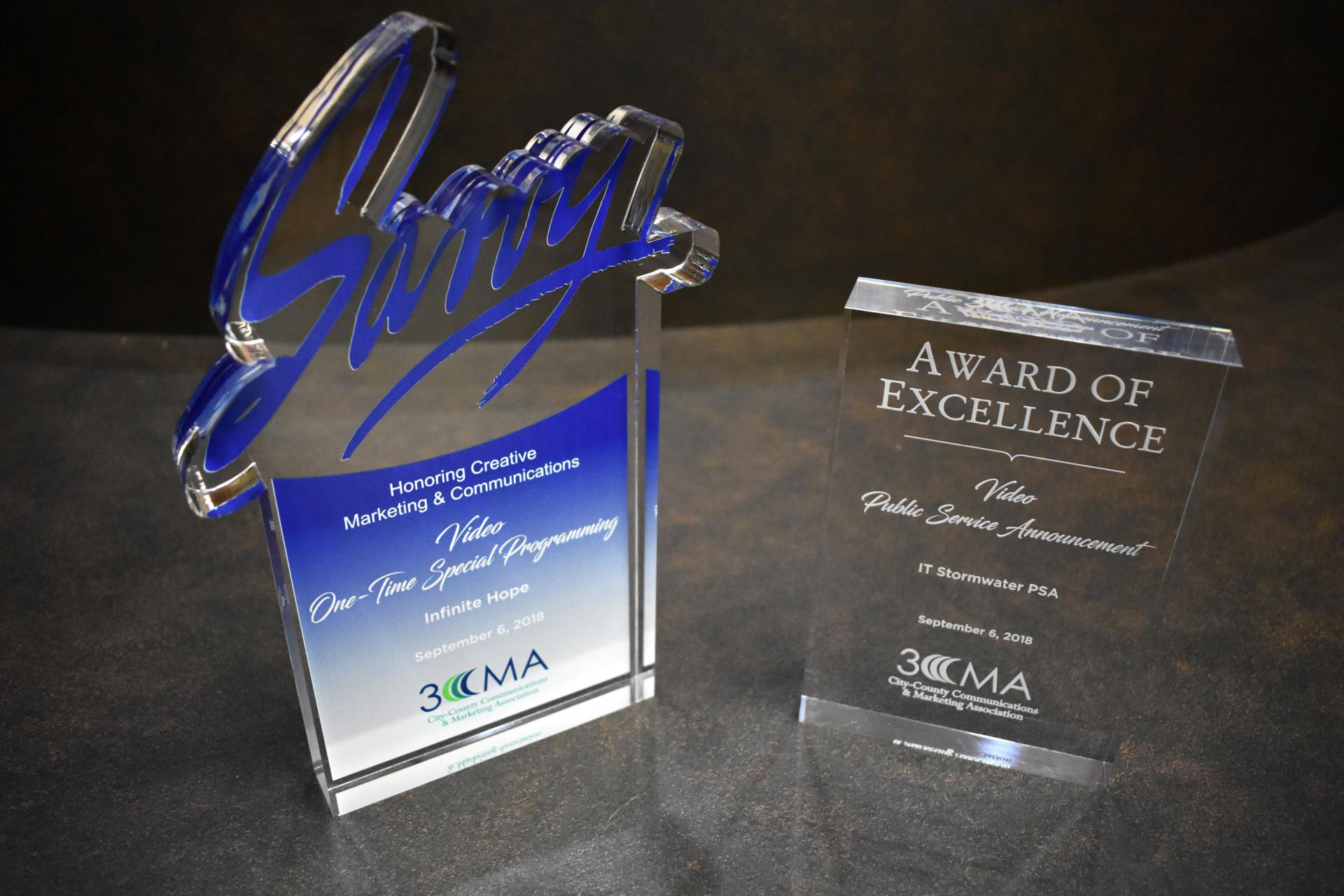 "City's videos ""Infinite Hope"" & ""IT Stormwater PSA"" win national awards"