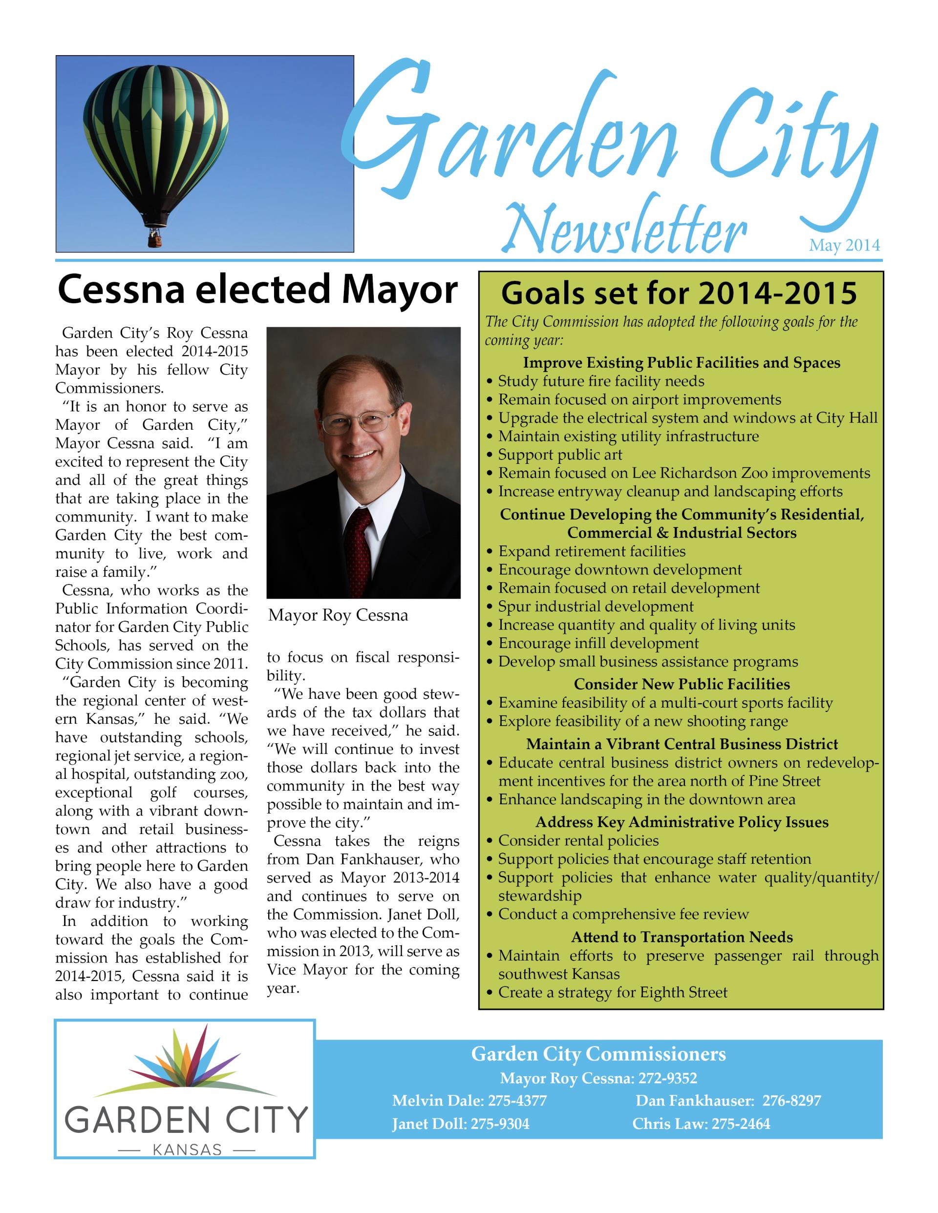 City of Garden City Newsletter