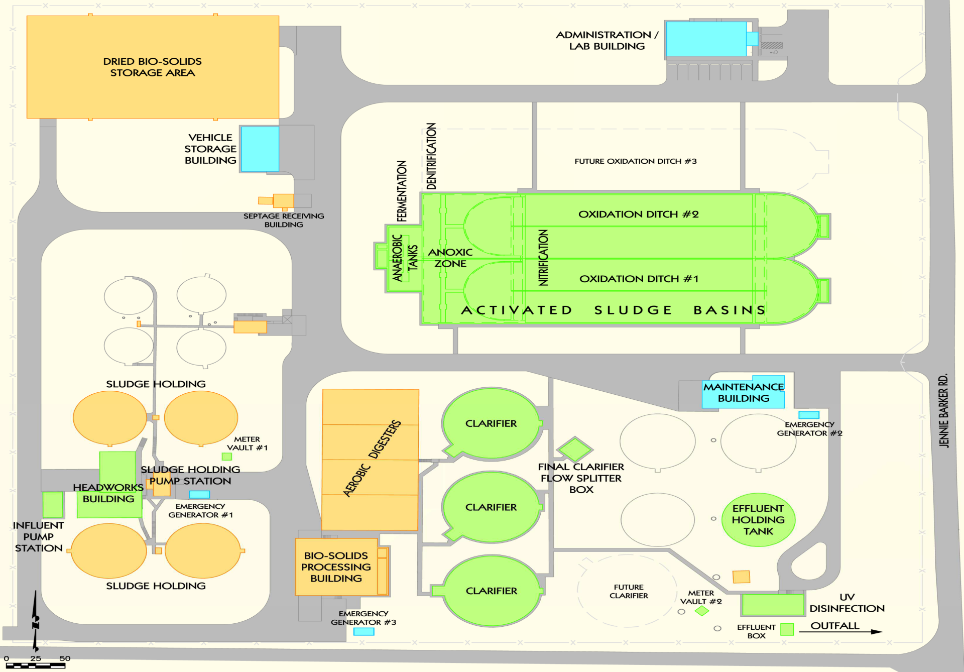 Wastewater Treatment Complex Map